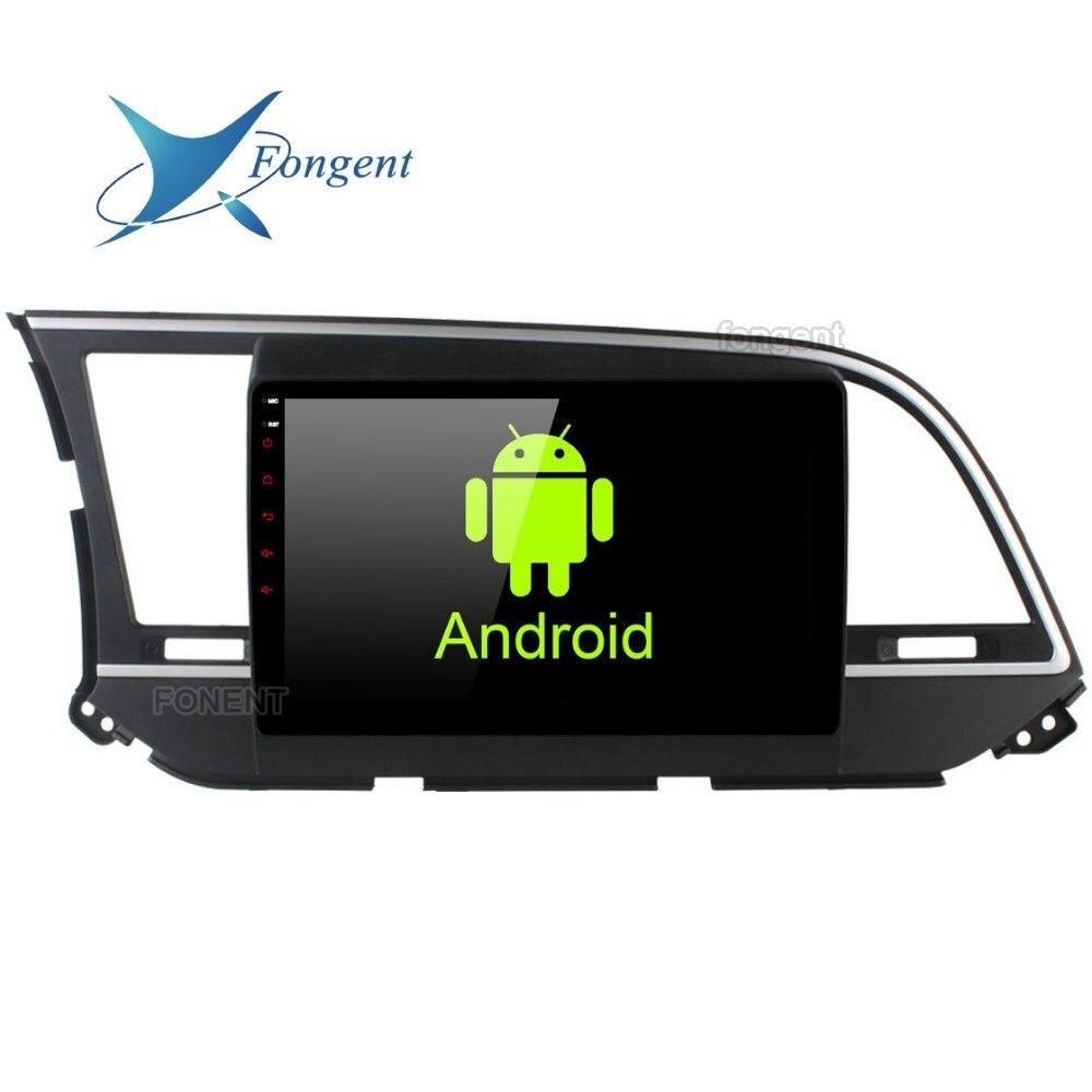 1 lecteur multimédia de voiture Radio Android 8.0 din pour Hyundai Elantra 2016 unité principale 9 pouces IPS écran tactile GPS NAVI 4G 32G vidéo