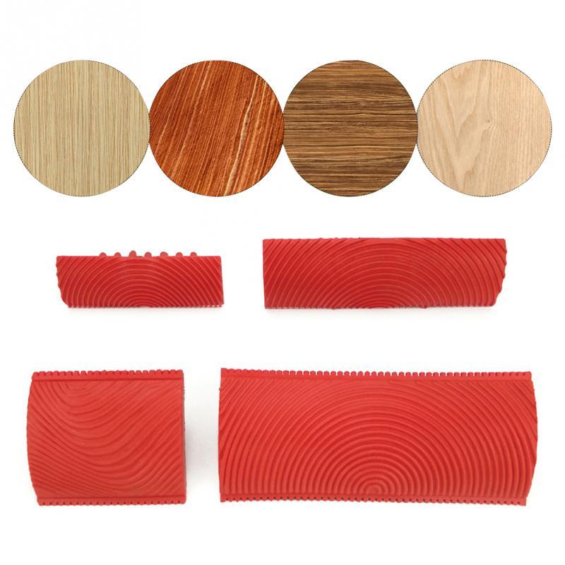 2Pcs/set Imitation Wood Grain Brush Garden Paint Roller Set Office Building Brush Wall Texture Art Painting Tool Set