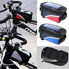 Высокое качество водонепроницаемый велосипедный велосипед передняя Рама Паньер Труба Сумка для мобильного телефона