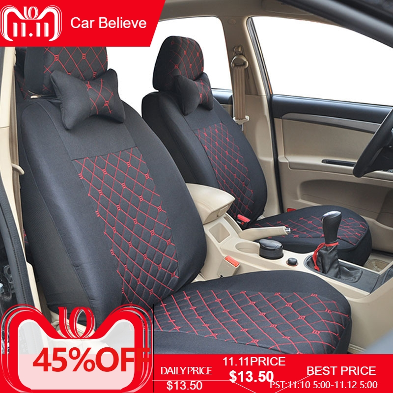 Car Believe leather car seat cover For mitsubishi pajero 4 2 sport outlander xl asx accessories lancer covers for vehicle seat fully enclosed trunk mat for mitsubishi outlander xl pajero sport lancer car accessories car mats