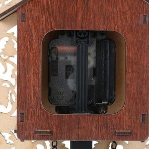Image 5 - عملية خمر الخشب الوقواق ساعة حائط ساعة يدوية معلقة للمنزل مطعم الديكور الفن خمر سوينغ غرفة المعيشة