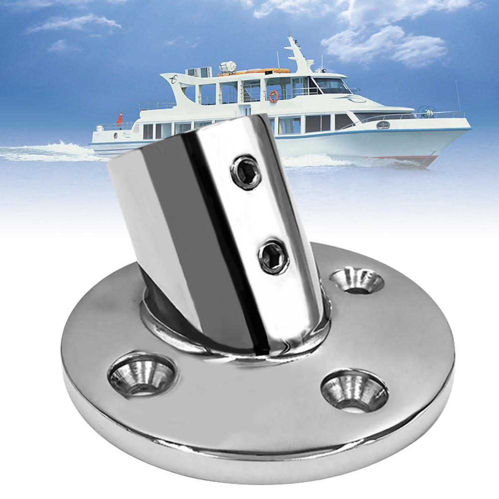 """1PC 316 Stainless Steel Marine Boat Hand Rail Fitting 30 Degree 7//8/"""" Round Base"""