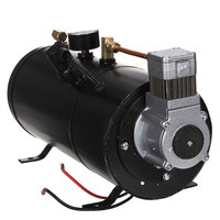 12V Black 150PSI Air Compressor 3 Liters and Pressure Switch Hose Kits Train Truck Trailer Auto Replacement Parts