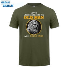 GILDAN  Fashion Short Sleeve Old Man Cauliflower Ears T-shirt Funny Bjj Wrestling