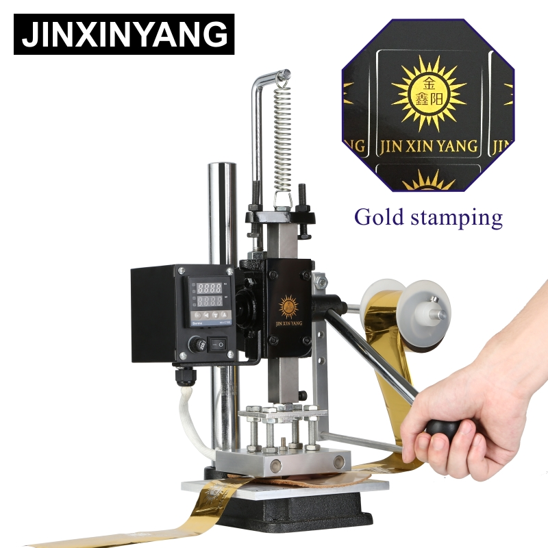 JINXINYANG Heat Press Machine Leather Embossing Foil Gold Stamping Hot Pressing Mold Cutting Rhombus Punching Branding Wood