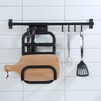 Aluminum Alloy Rack Kitchen Shelf Holders Knives Cutting Board Racks Home Organization and Storage Gadgets