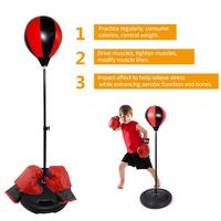 New Adjustable Fitness Boxing Punch Pear Speed Ball Relaxed Boxing Punching Bag Speed Bag For Kid Children+Glove+Pump+Base+Poles