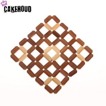 CAKEHOUD Thick Bamboo Placemat Kitchen Pot Cup Dish Pad Table Decoration Insulation Anti-scalding Environmental Health Coasters image