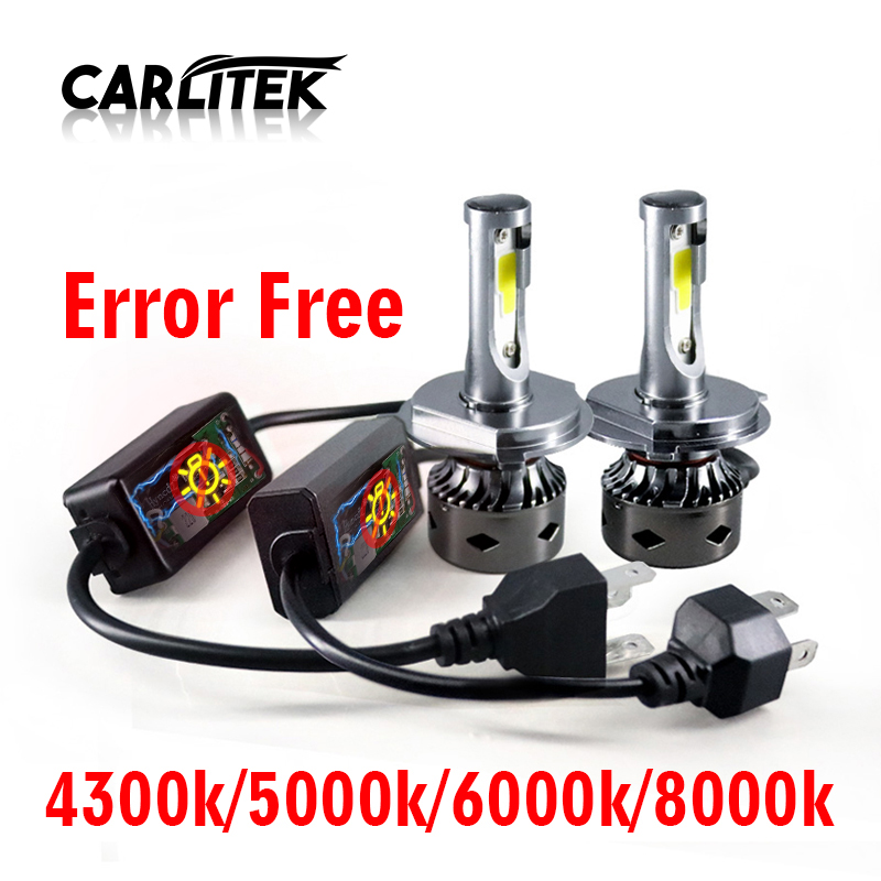 CARLitek <font><b>Led</b></font> H7 <font><b>Canbus</b></font> Headlight Bulb Error Free <font><b>H4</b></font> H1 H11 Car <font><b>Led</b></font> 80W 12000LM 6000K 8000K 9005 9006 Mini Auto Light No Error image