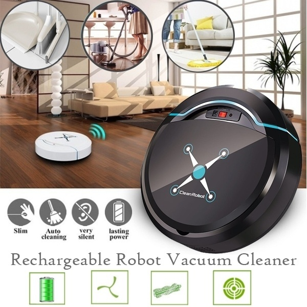 USB Robot Vacuum Cleaner for Home Automatic Sweeping Dust Cleaner Wireless Vacuum Cleaner Auto Sweeper Aspirateur Black / WhiteUSB Robot Vacuum Cleaner for Home Automatic Sweeping Dust Cleaner Wireless Vacuum Cleaner Auto Sweeper Aspirateur Black / White