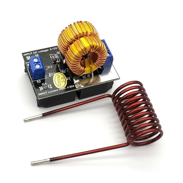 ขายร้อน5 12V 120W Mini ZVS Inductionเครื่องทำความร้อนเครื่องทำความร้อนDriver DIYหม้อหุงข้าว + Ignition coil