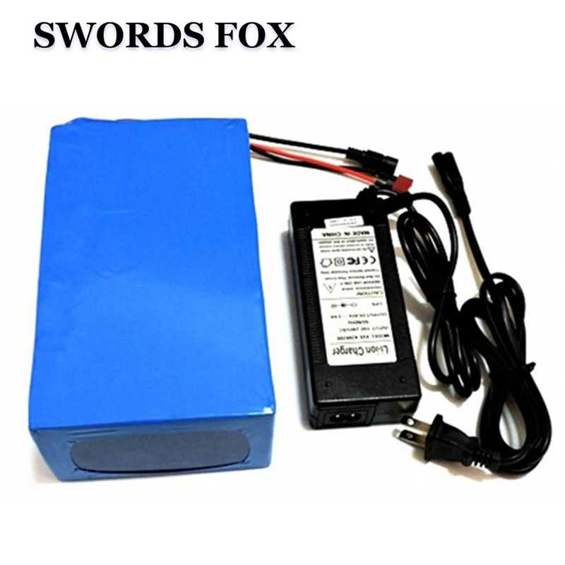 SWORDS FOX 48V 15AH electric bike battery 500W 750W 1000w for Bafang motor 30A BMS 54.6V 2A charger