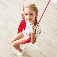 Children Swing Disc Toy Soft Seat Kids Swing Round Rope Swings Outdoor Playground Hanging Garden Play Entertainment Activity
