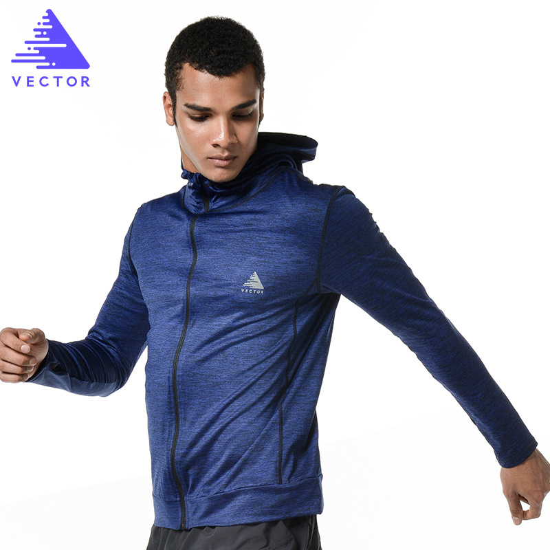VECTOR Men Women Running Jacket Clothing Quick-dry Long-sleeve Sportswear For Sports Fitness Coat Breathable Outerwear XXF30004
