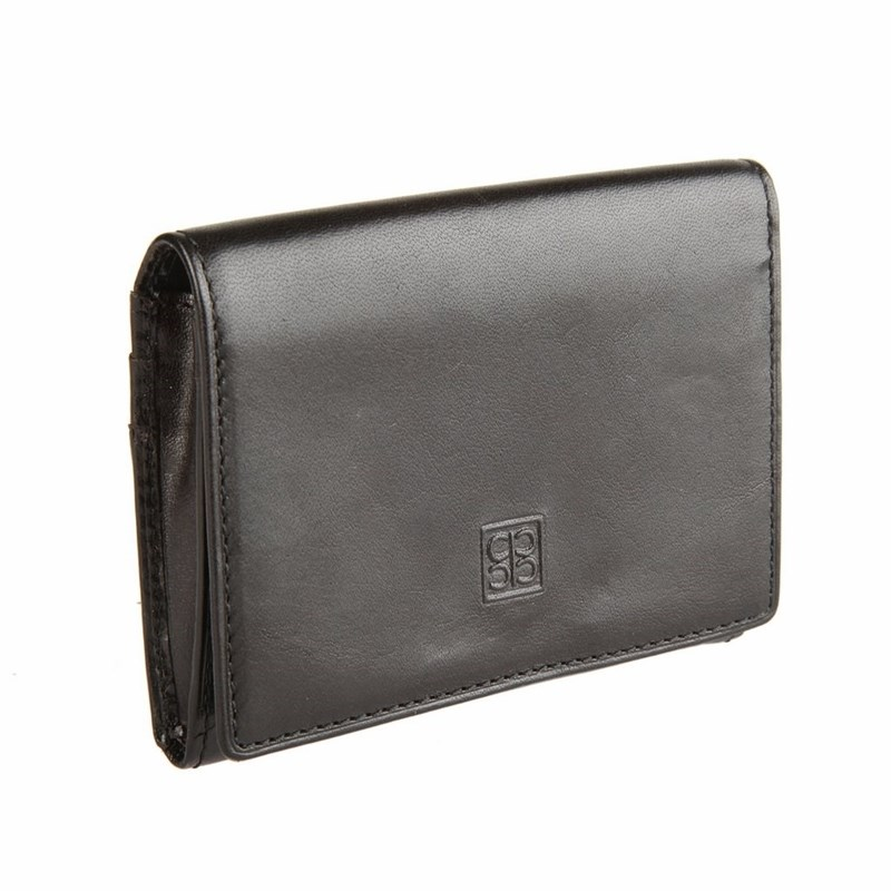 Business Card Holder Sergio Belotti 1295 Milano black large capacity card holder multifunctional wallet