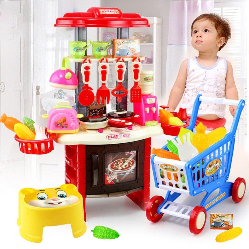 Enfants de jouets jouets de cuisine cuisine ustensiles de cuisine ensemble de jeu jouets