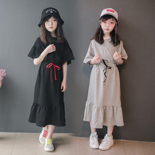 ماركة ملابس الطفل مجموعة 2020 الاطفال دعوى القطن الفتيات قطعتين مجموعة الأطفال القمصان و تنورة في سن المراهقة طفل الصيف مجموعة عادية ، #3984