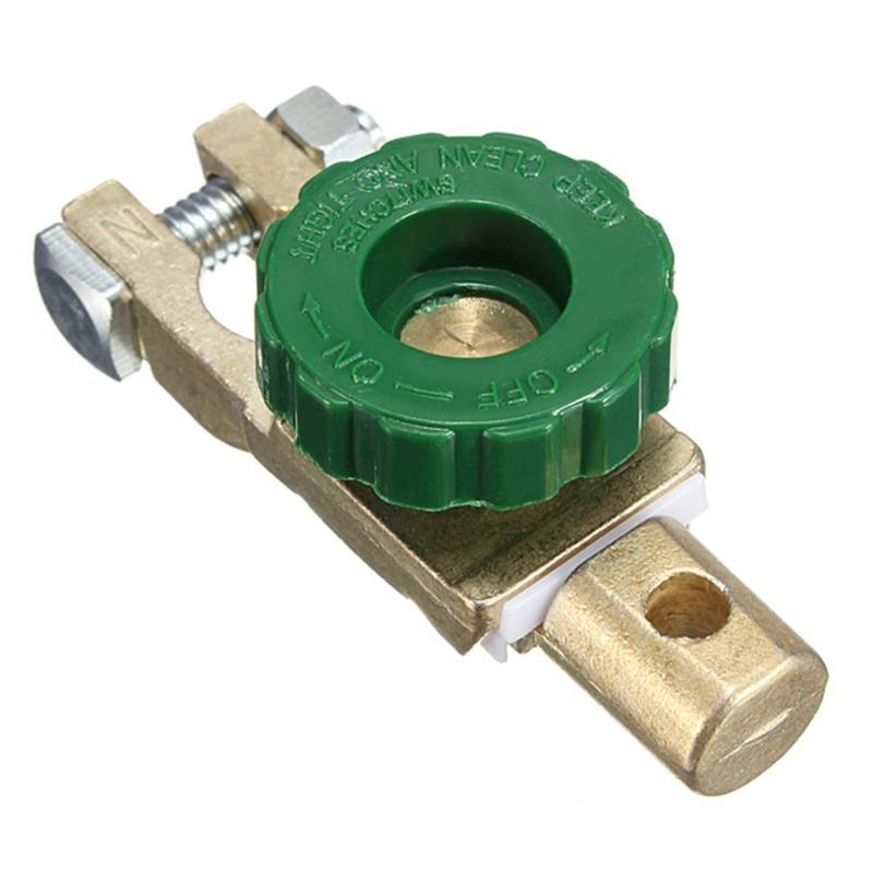 Universal 17mm Knob Auto Car Battery Link Terminal Switch Quick Cut-off Disconnect Master Shut Switch Tool Alloy Copper Material