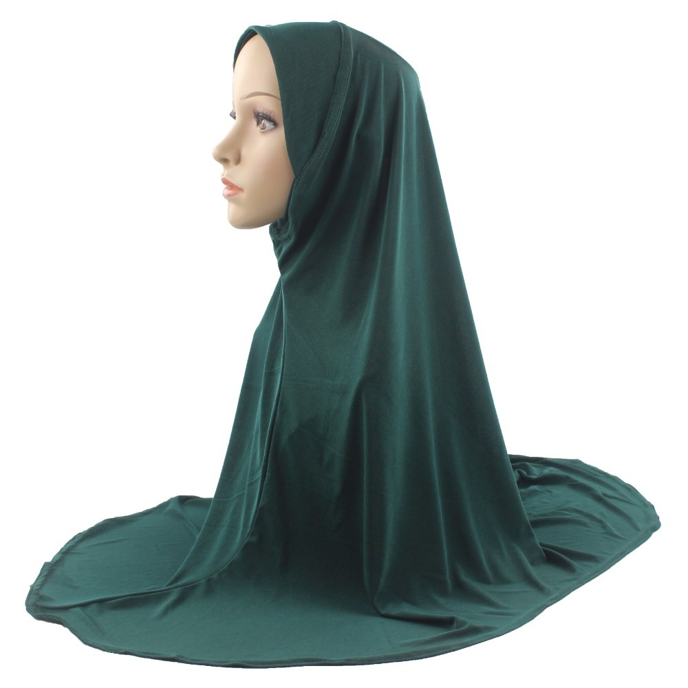 Muslim Hijab Islamic Scarf Woman Amira Cap Chest Scarf Full Cover Headwear Soft Stretch For Women/Girls(China)