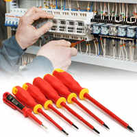 6pcs/set Practical Electricians Screwdriver Set VDA Electrical Insulated Kit Hand Tools Top Quality