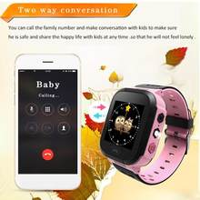 Kids Smart Watch Wristwatch 1.44 Inches Touch Screen LBS Positioning Remote Monitoring Smartwatch Lighting SOS Watch SIM Calls(China)