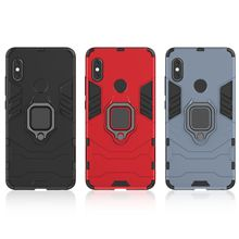 Conelz For Xiaomi Redmi Note 5 Case Armor with Grip Ring Holder Stand 360 Rotatable Magnetic Back Shockproof