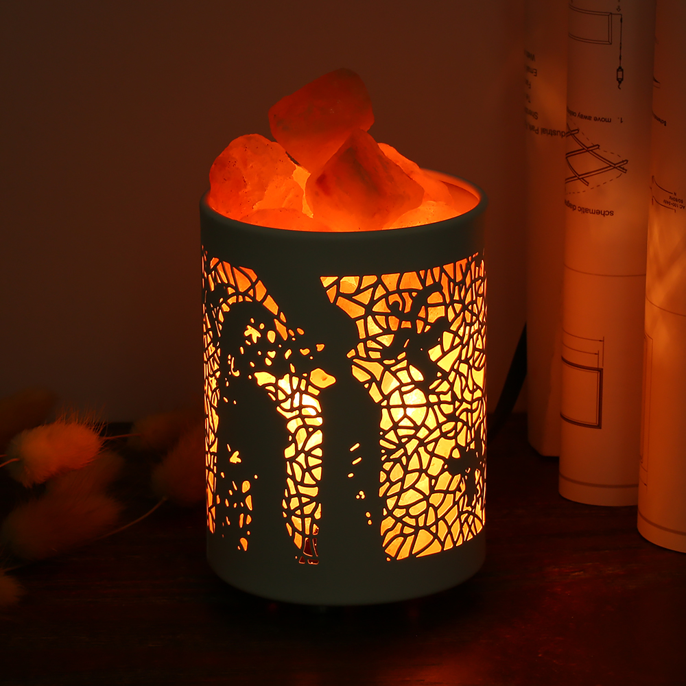 Natural Himalayan Salt Crystal Lamp Dimmable Decor Night Light for Living Room Bathroom Bedroom Bedside Light Crystal Salt Lamp