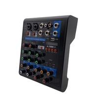LEORY Mini 4 Channel Karaoke Mixer Professional Studio Audio DJ Mixing Console Amplifier Digital Microphone Sound Mixer
