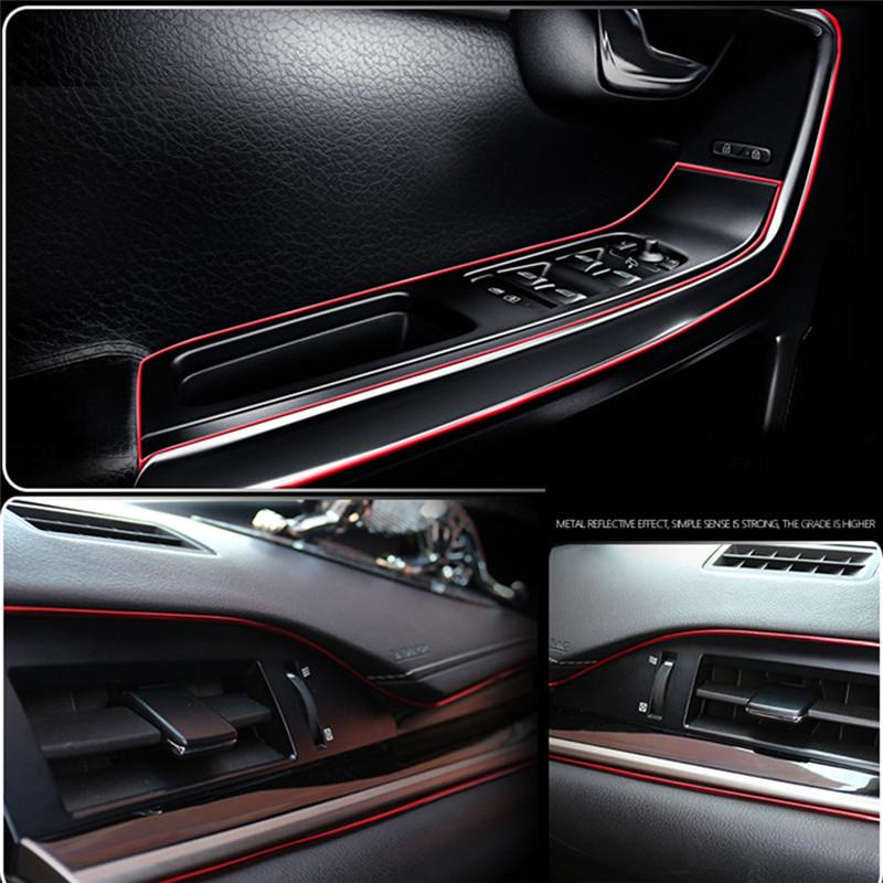 Car Ribbon Trim Car Central Control and Door Strip Interior Decoration Strip Mouldings Universal Car Styling 5M Rim Decor