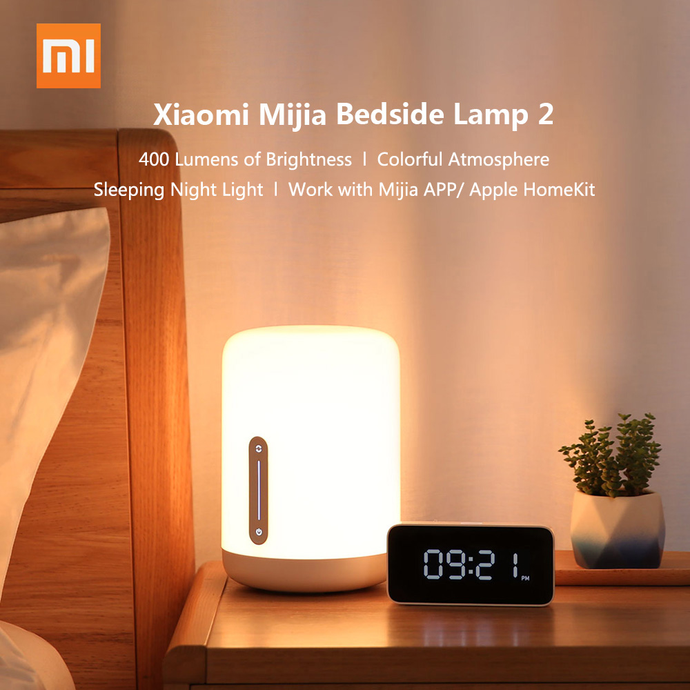 Xiaomi Mijia Bedside Lamp Beside Lamp 2 LED Smart Night Lights Baby Sleeping Light WiFi Connection