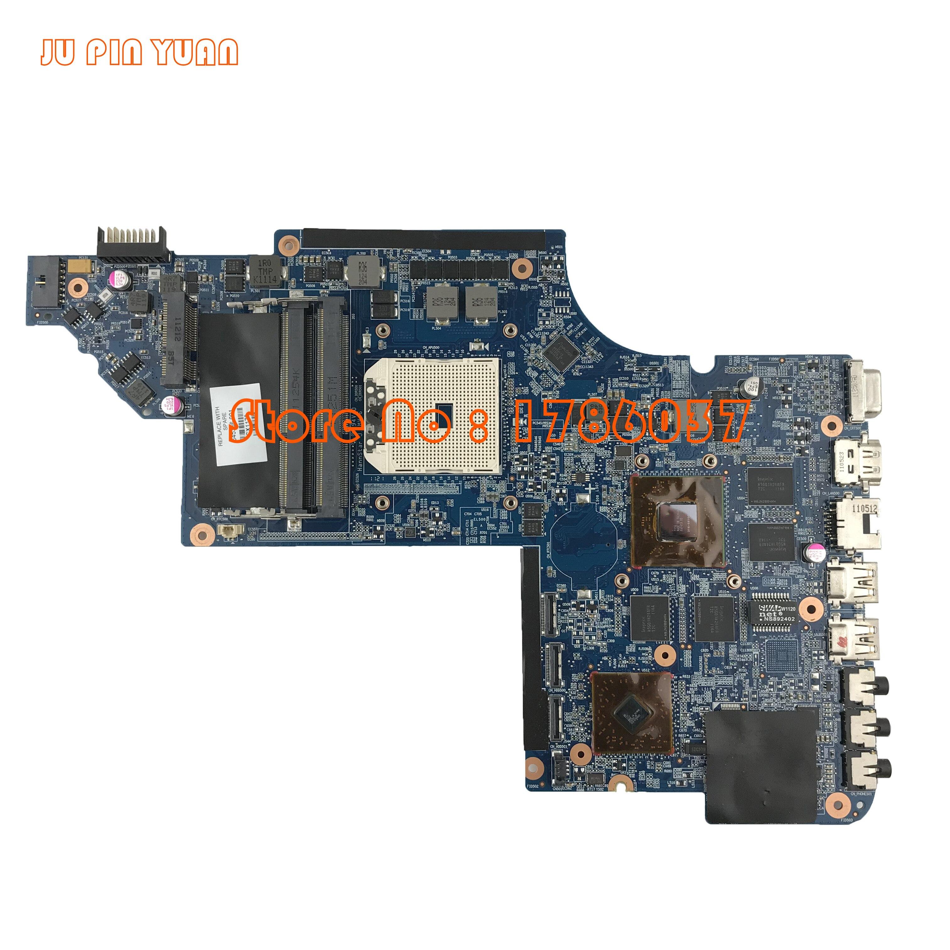 JU PIN YUANS 645386-001 carte mère pour HP PAVILION DV7 DV7-6000 ordinateur portable carte mère avec A70M DSC HD6750/1 G entièrement Testé