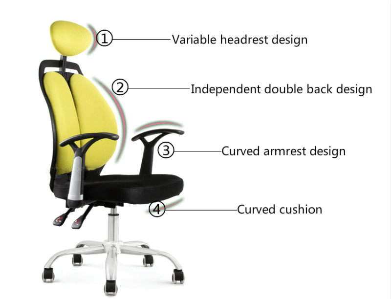 Independent Ergonomic Swivel Chair Household Computer Chair For Students Children Furniture