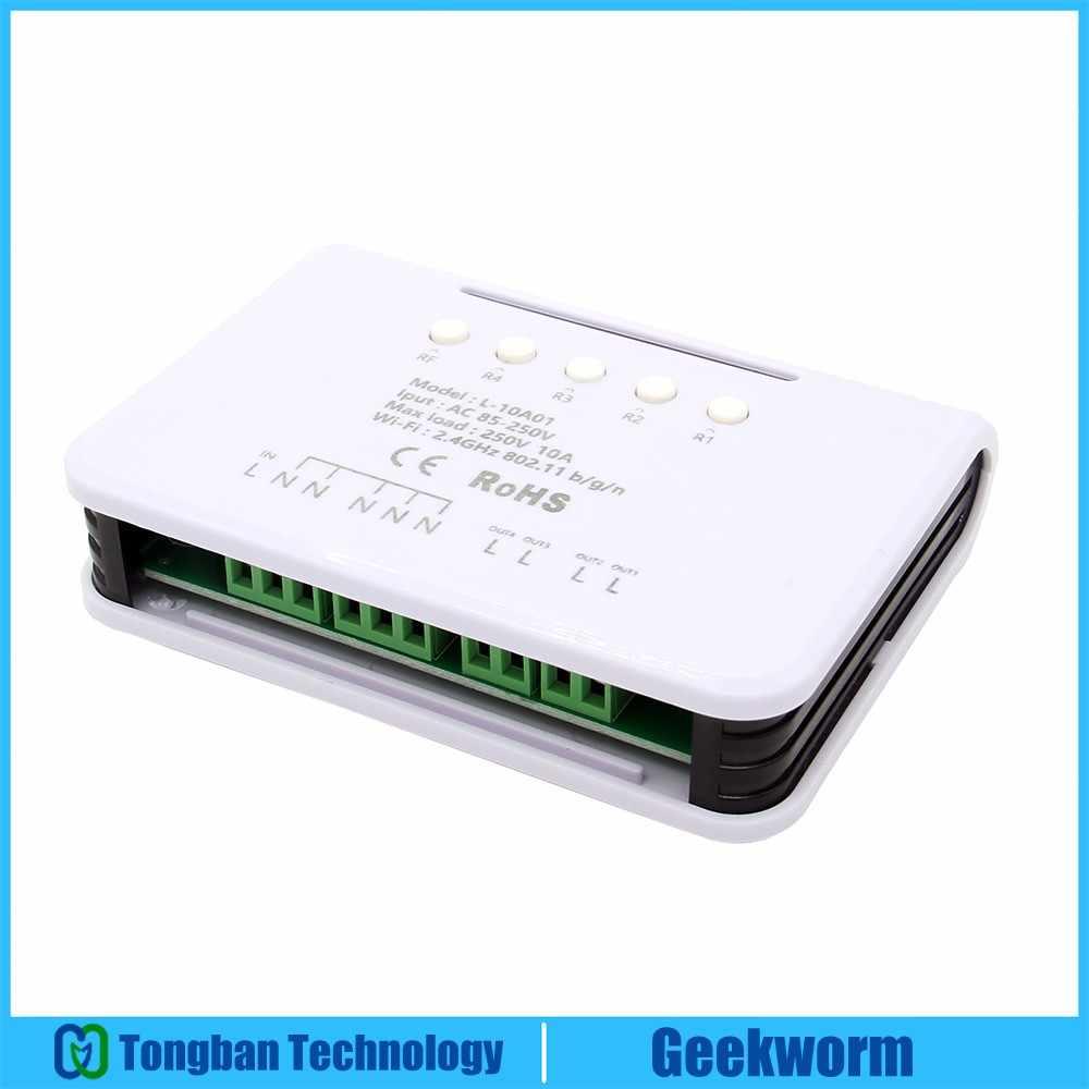 85 V-250 V 4CH-WiFi Smart переключатель Wi-Fi Беспроводной многоканальный пульт дистанционного Управление переключатель для Smart Home Поддержка Алекс/Google дома