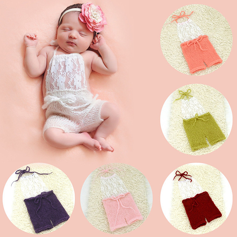 Newborn Photography Props Romper Baby Photography Costume Mohair Lace Clothes Cute Baby Photo Props Accessories Studio Accessory