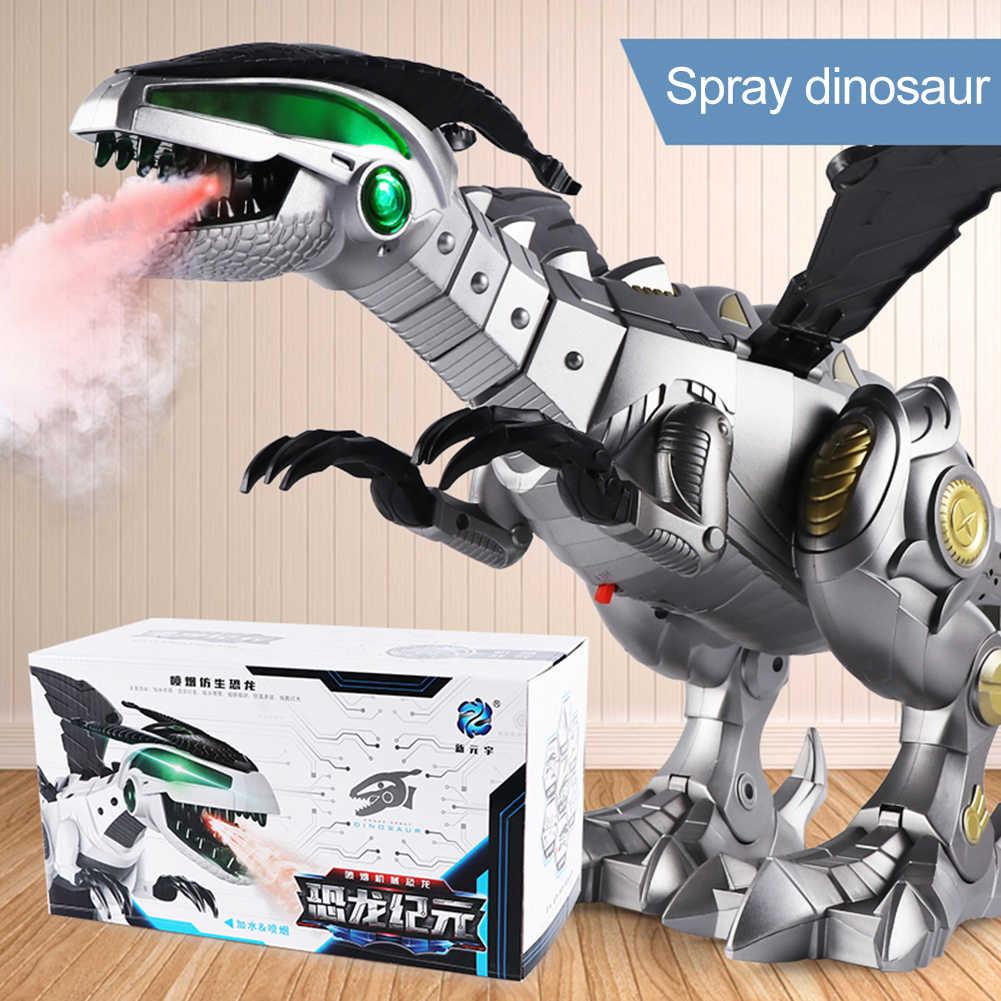 الفتيان الاطفال العالمي آلة الكهربائية ديناصور رذاذ ضوء الصوت لعبة تعليمية للطفل هدايا عيد الميلاد