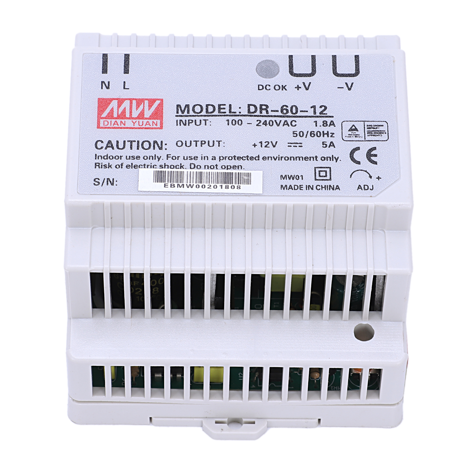 Din Rail Power Supply 60w 12V Ac Dc Converter Dr-60-12 Power Supply 12v 60w Good Quality