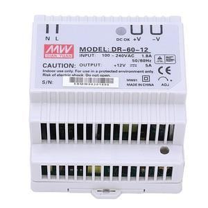 Image 1 - Din rail power supply 60w 12V ac dc converter dr 60 12 power supply 12v 60w good quality