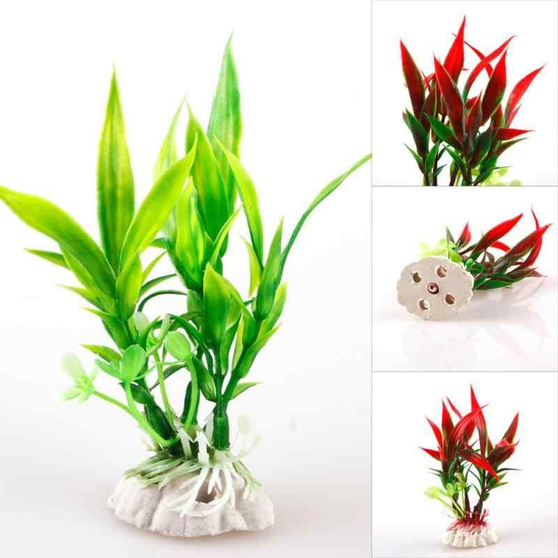 11cm Simulation Artificial plants Aquarium Decor Water Weeds Ornament Plant fish tank aquarium Grass Landscape Akvaryum Dekor