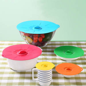 wu fang Pot Pan Lid Silicone 1PC Food Microwave Bowl Cover
