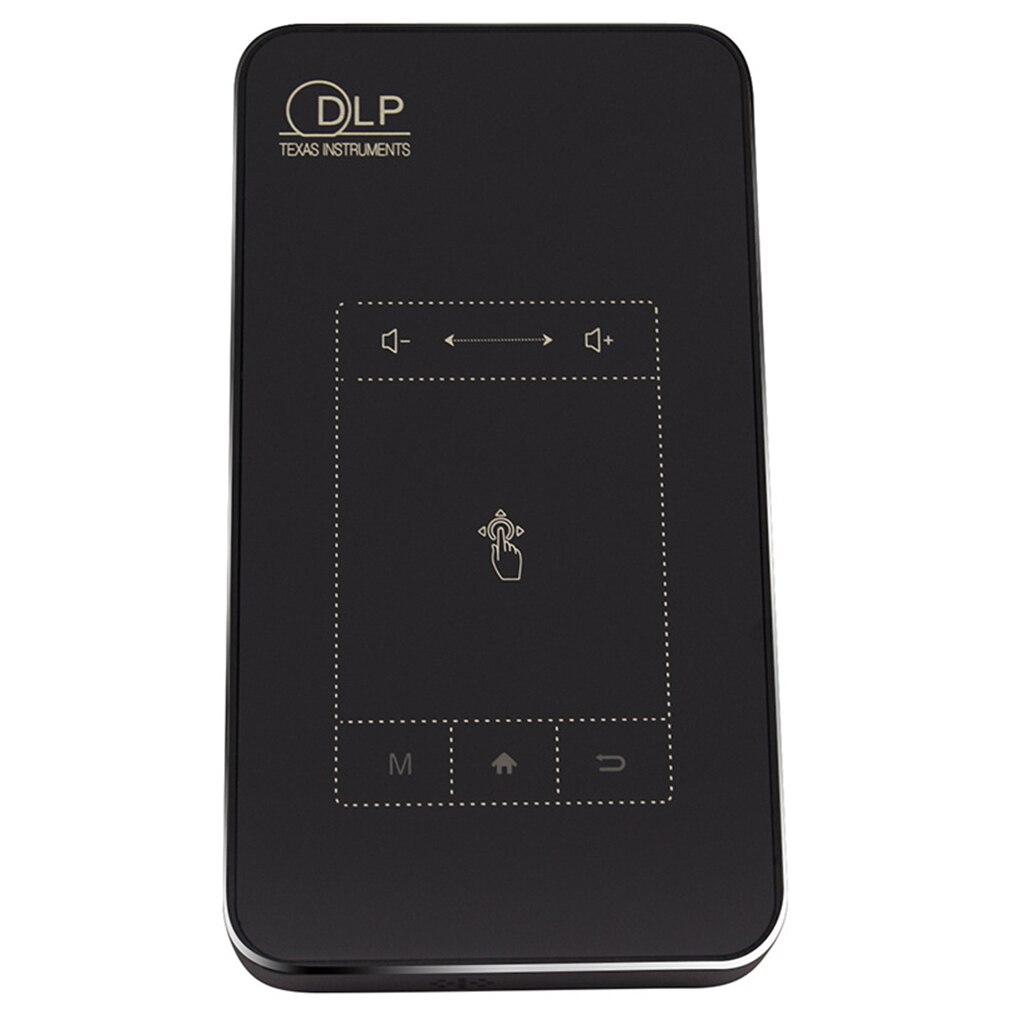 DLP Projector T18 WiFi Android 7.1 Bluetooth Pico Pocket HDMI Ondersteuning 4 K 1080 P Mini 32G Mini Projector