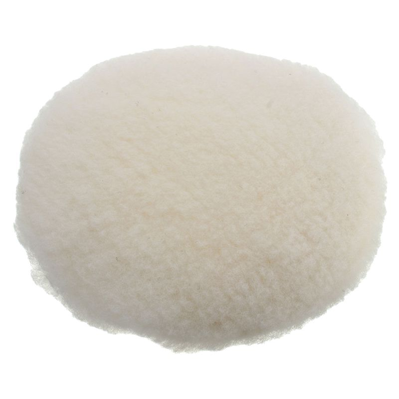 7inch 180mm Soft Wool Car Detailing Polishing Buffer Polisher Bonnet Pad With Loop