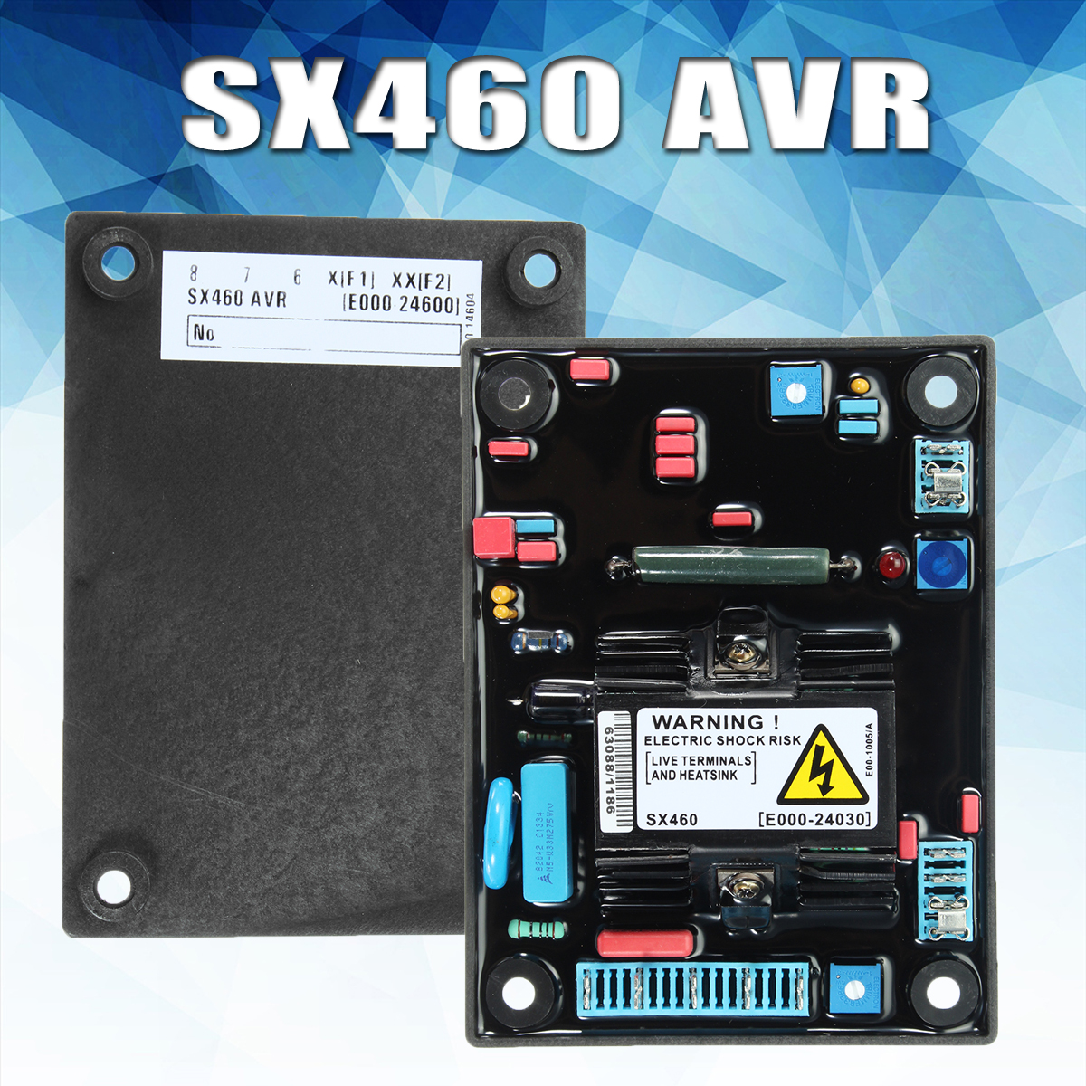 Red rubber SX460 AVR Automatic Voltage Regulator For Stamford Diese l Generator red carton avr sx460 for generator free shipping