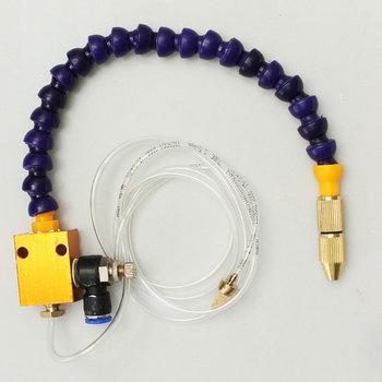 8mm przewód powietrzny System smarowania mgłą chłodzącą tokarka cnc frezarka wiertarka maszyny do grawerowania do chłodzenia tanie i dobre opinie WOLIKE Mist Coolant System Nowy plastic metal brass 37 5cm(L) hose about 1 25M