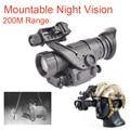 PVS14 очки ночного видения Монокуляр 200 м Диапазон Инфракрасный ИК-NV Охота Сфера с креплением Ночное видение достопримечательности