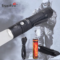 TrustFire Led flashlight Ultra Bright torch E3R 1000LM XPL V3 LED USB Rechargeable Flashlight use 18650 battery for Camping