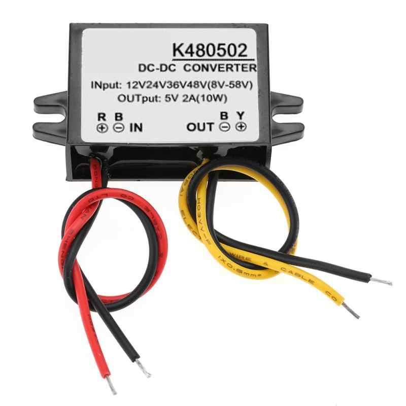 DC-DC محول فرق الجهد منظم 12 V/24 V/36 V/48 V إلى 5 V 2A التنحي امدادات الطاقة وحدة