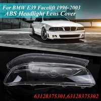 2Pcs Car Left &Right Headlamp Shell Headlight Lens Replacement Cover for BMW 1996 2003 E39 Car Lights Headlight Lamp Case