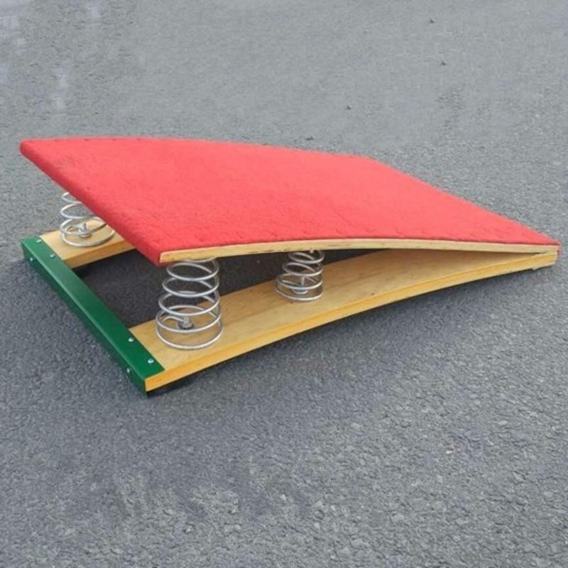 80X50 CM Children S-type Springboard Kids Gymnastics Boards Martial Arts Flip Flops Pedal Field Spring Board FT05