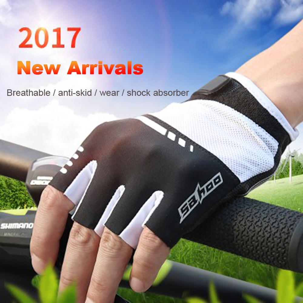 <font><b>Mountain</b></font> Cycling <font><b>Gloves</b></font> Half Finger Men MTB Road Bicycle <font><b>Gloves</b></font> Antiskid Breathable Anti-slip Short <font><b>GEL</b></font> Pad <font><b>Bike</b></font> <font><b>Glove</b></font> black red image