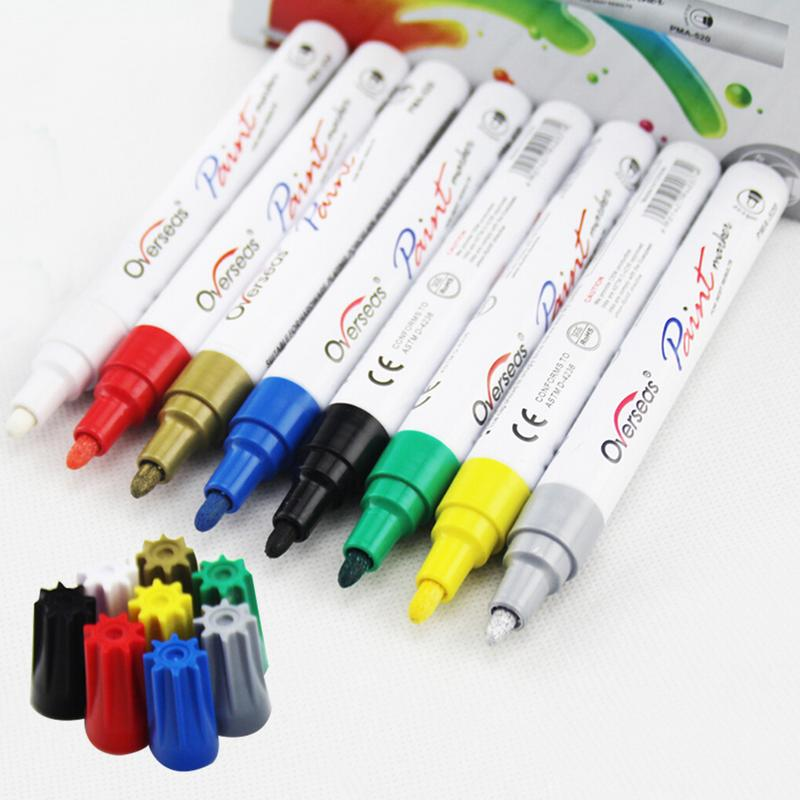 Car Graffiti Paint Pen Eco-friendly Car Paint Scratch Repair Pen DIY Album Accessories Marker Pen Auto Car-styling